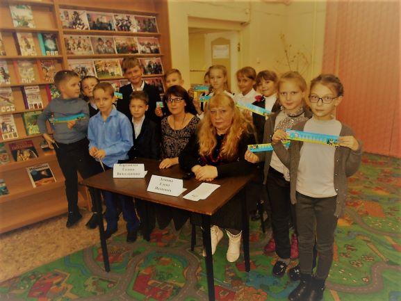 Г.Карташова и Е.Леонова выступили перед школьниками