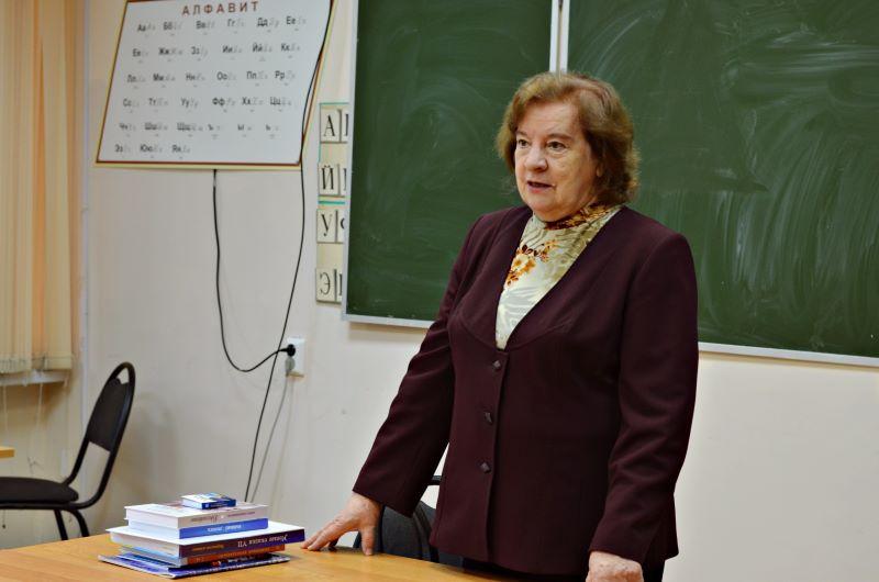 Встреча Л.Л. Семенищенковой со студентами БГУ им. И.Г. Петровского