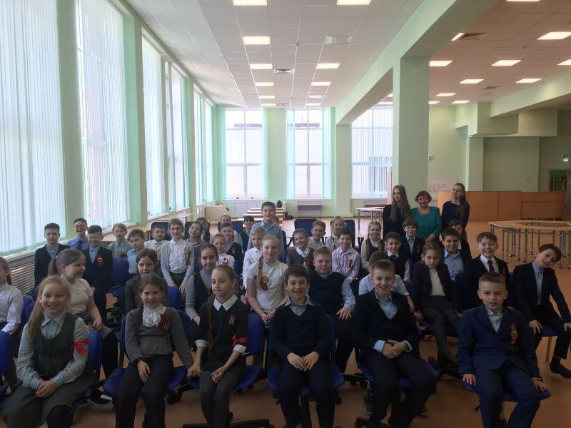 Евгения Шапиро встретилась с третьеклассниками 71-й школы